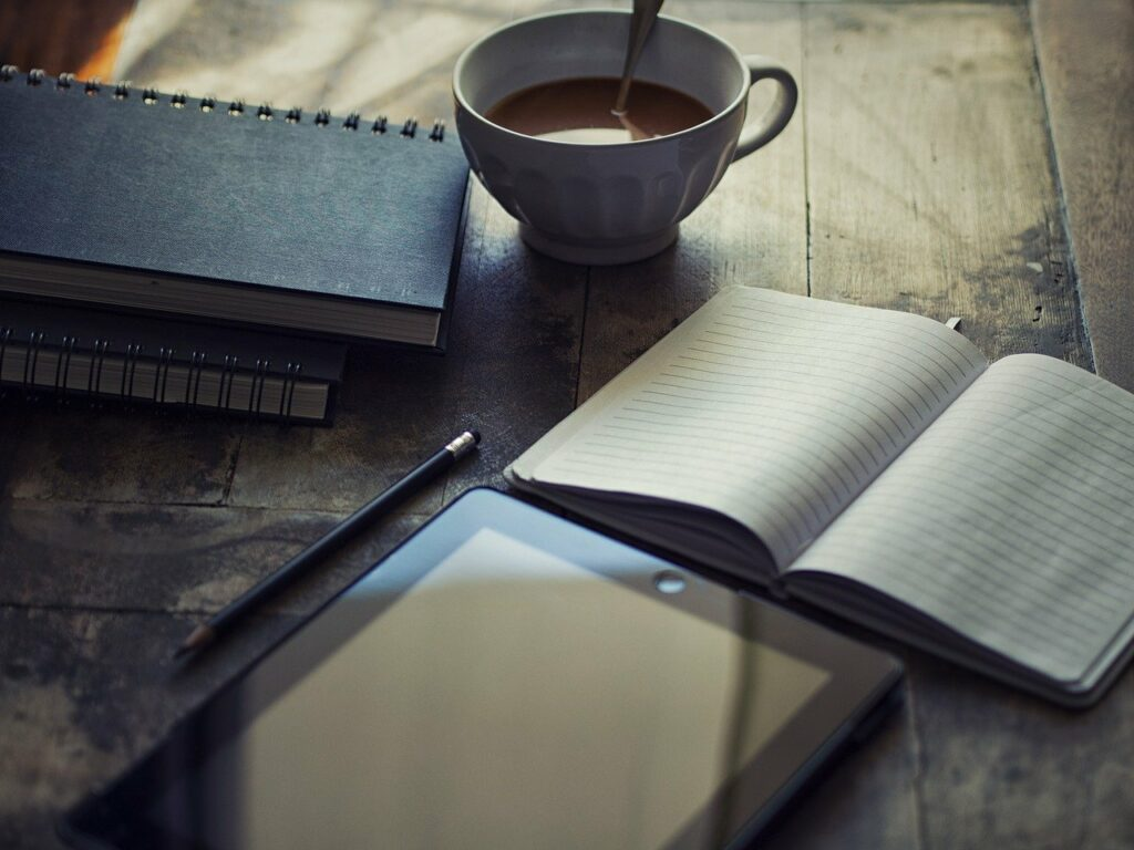 diary, ipad, write
